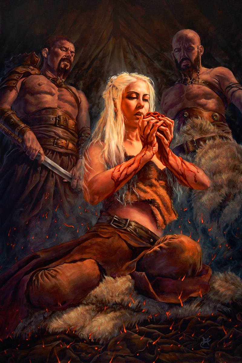 Fire and Blood 20″ x 30″ oil on panel
