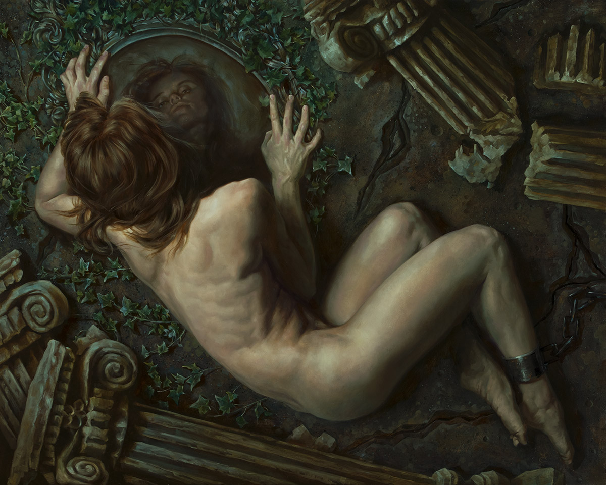 Oracle, 24″ x 30″ oil on panel. Available for purchase through Abend Gallery