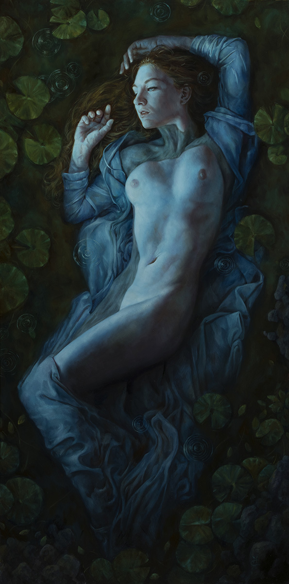 Reminiscence, 18″ x 36″ oil on panel. Available for purchase: $5000 framed.